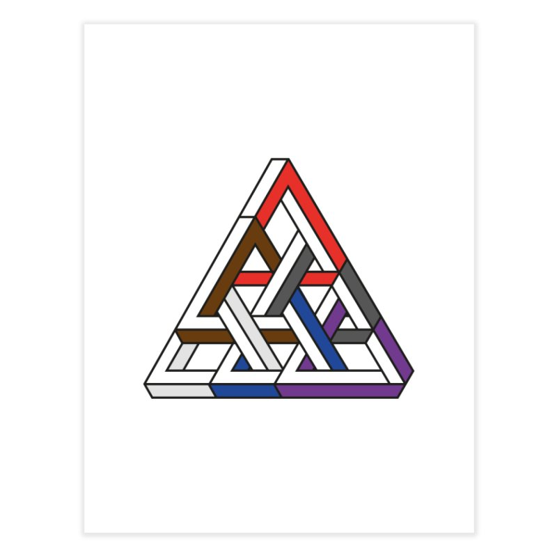 Triangular Home Fine Art Print by Murphed