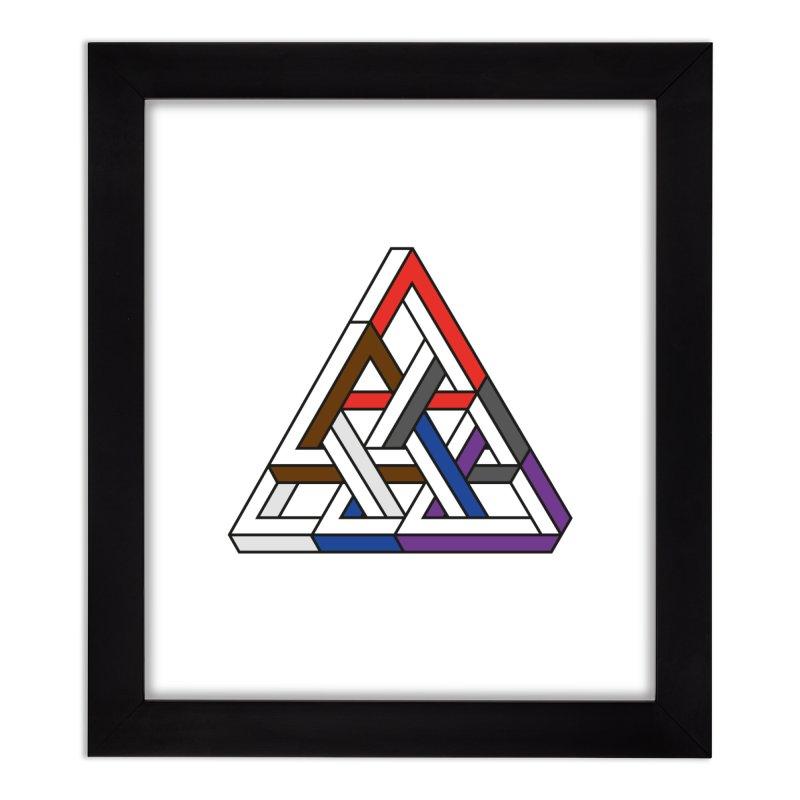 Triangular Home Framed Fine Art Print by Murphed