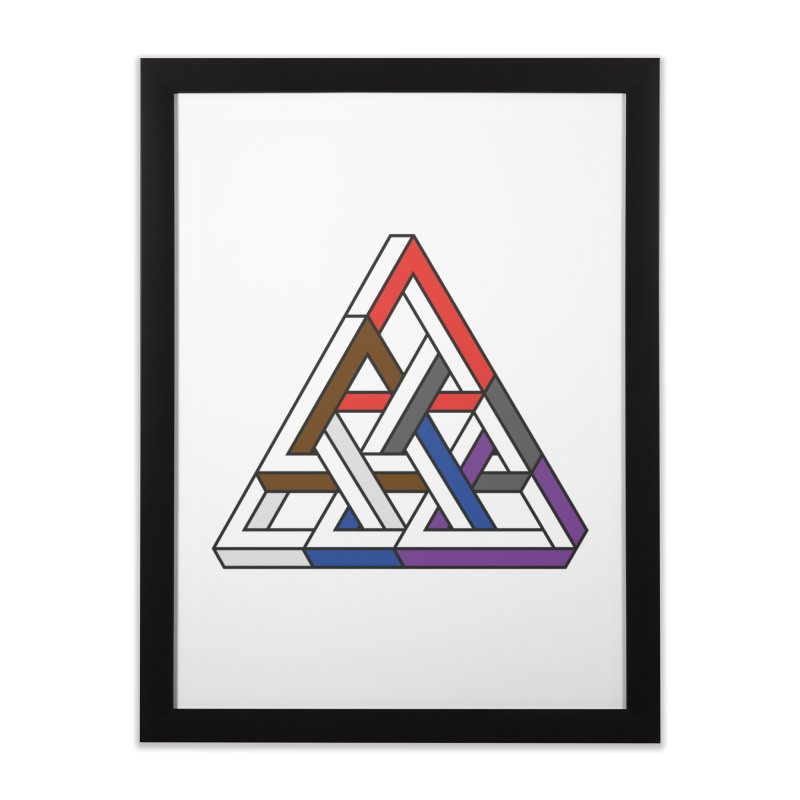 Triangular Home Framed Fine Art Print by Murphed