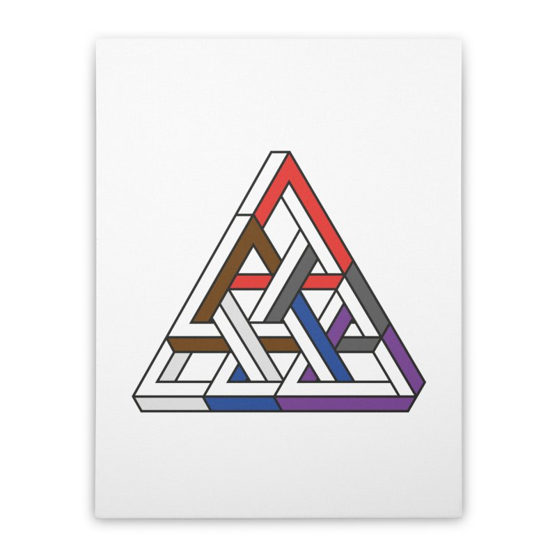 Triangular Home Stretched Canvas by Murphed