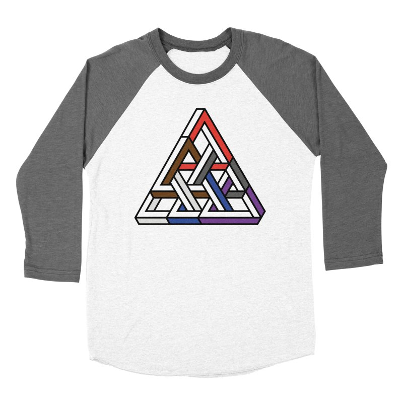 Triangular Men's Baseball Triblend Longsleeve T-Shirt by Murphed
