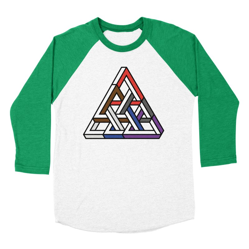 Triangular Men's Baseball Triblend T-Shirt by Murphed