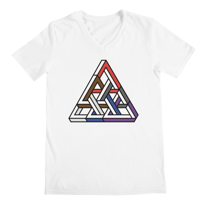 Triangular Men's Regular V-Neck by Murphed