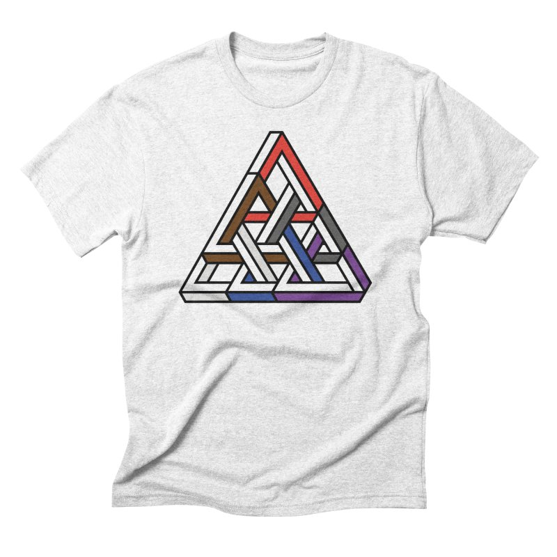 Triangular Men's Triblend T-shirt by Murphed