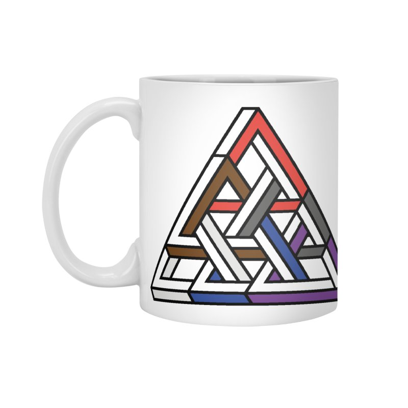 Triangular Accessories Mug by Murphed