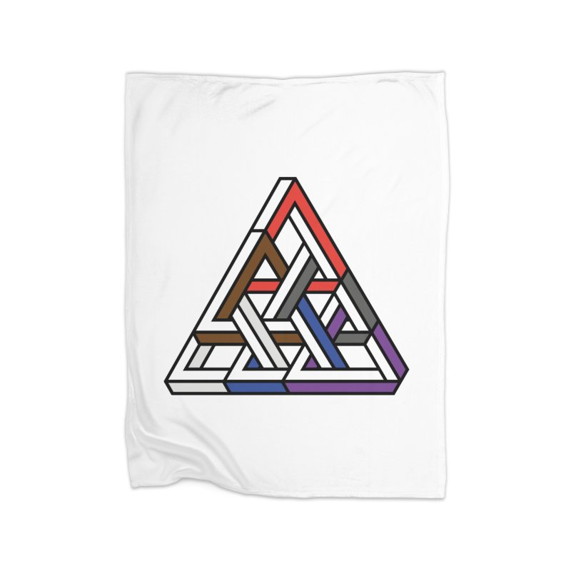 Triangular Home Fleece Blanket by Murphed