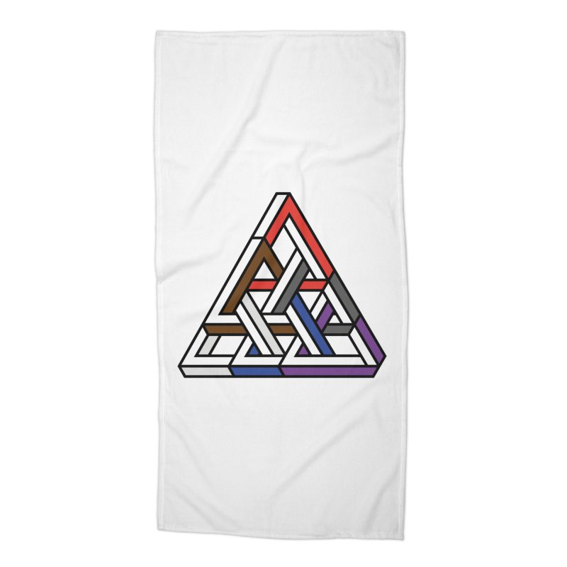 Triangular Accessories Beach Towel by Murphed