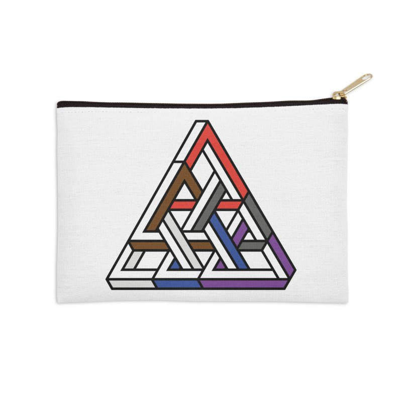 Triangular Accessories Zip Pouch by Murphed