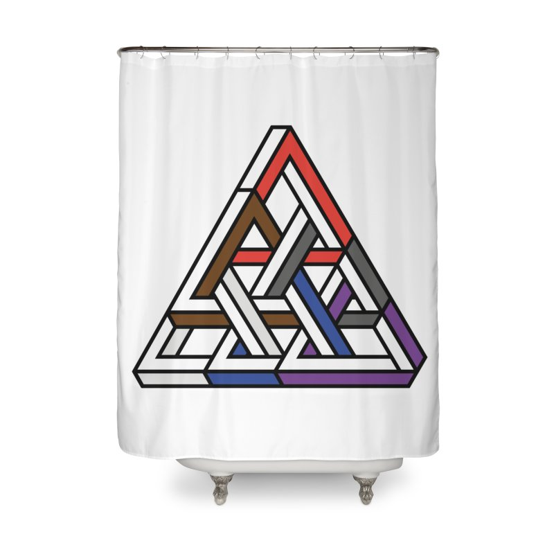 Triangular Home Shower Curtain by Murphed