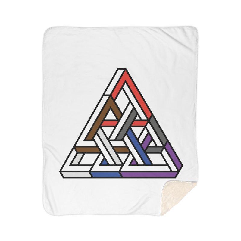 Triangular Home Sherpa Blanket Blanket by Murphed