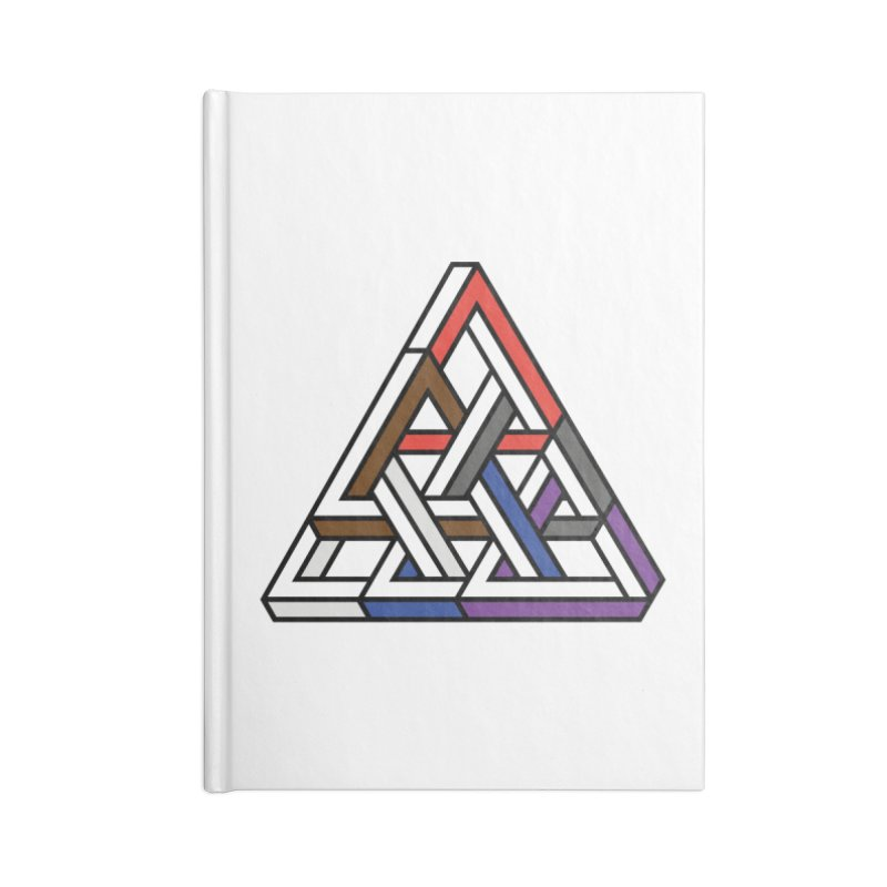 Triangular Accessories Lined Journal Notebook by Murphed