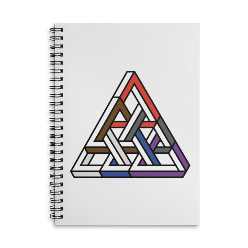 Triangular Accessories Lined Spiral Notebook by Murphed