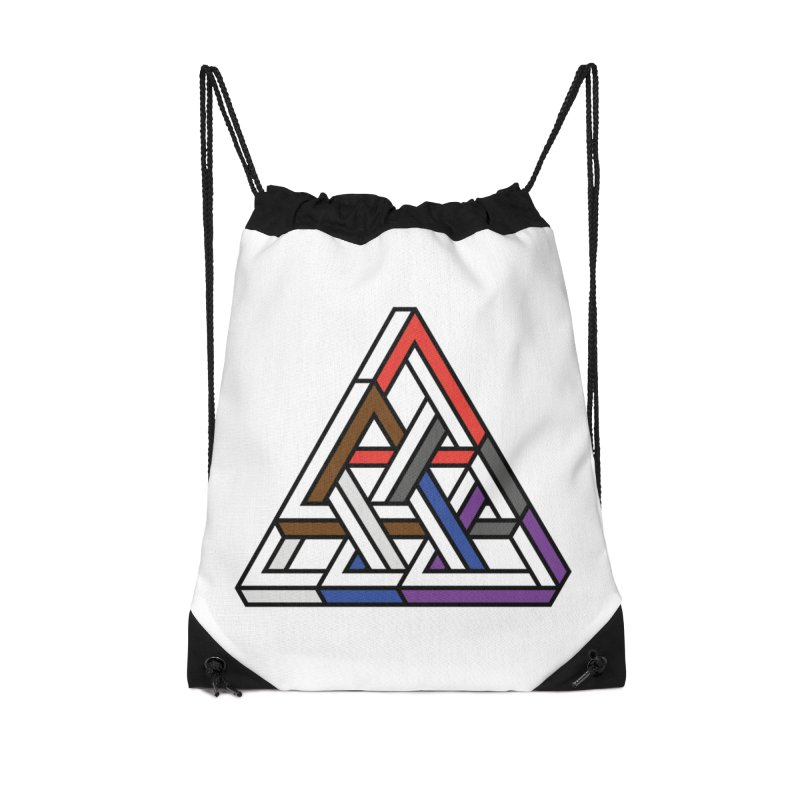 Triangular Accessories Drawstring Bag Bag by Murphed