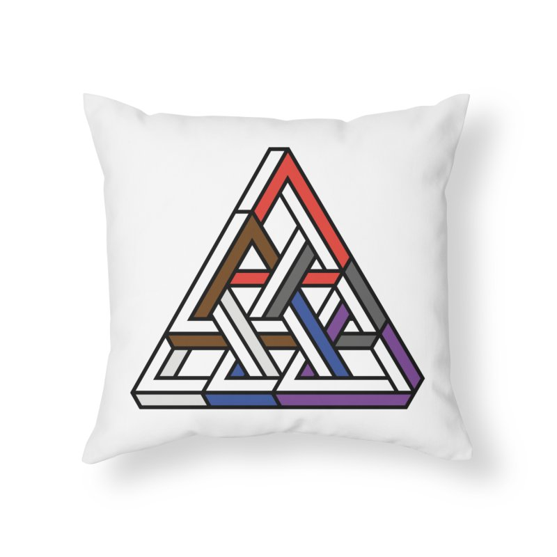 Triangular Home Throw Pillow by Murphed