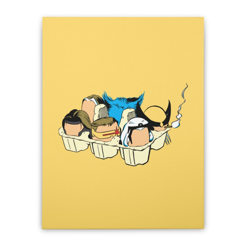 Eggs-Men Home Stretched Canvas by Murphed