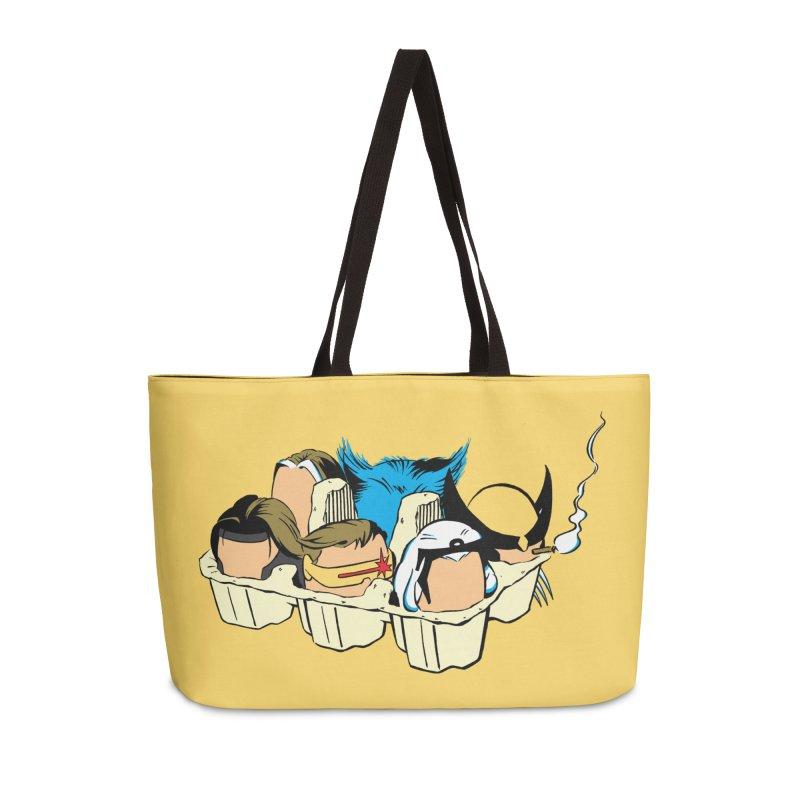 Eggs-Men Accessories Weekender Bag Bag by Murphed