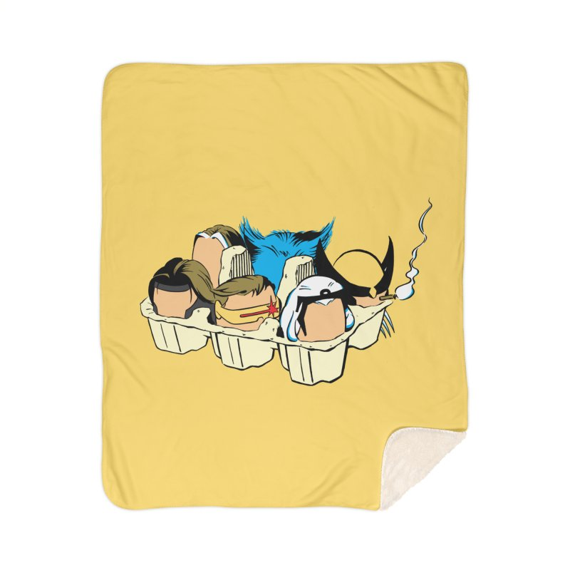 Eggs-Men Home Sherpa Blanket Blanket by Murphed