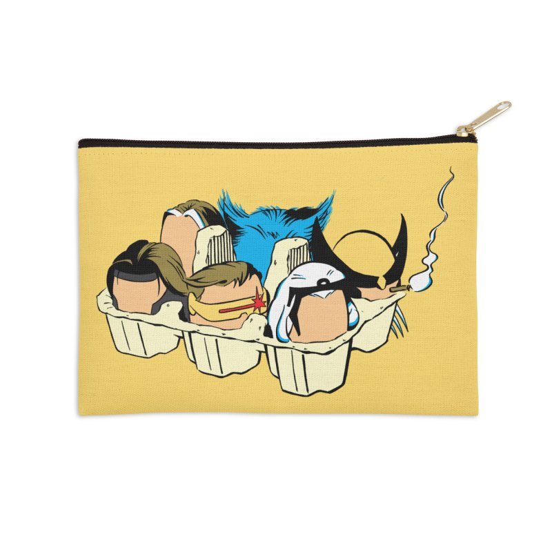 Eggs-Men Accessories Zip Pouch by Murphed