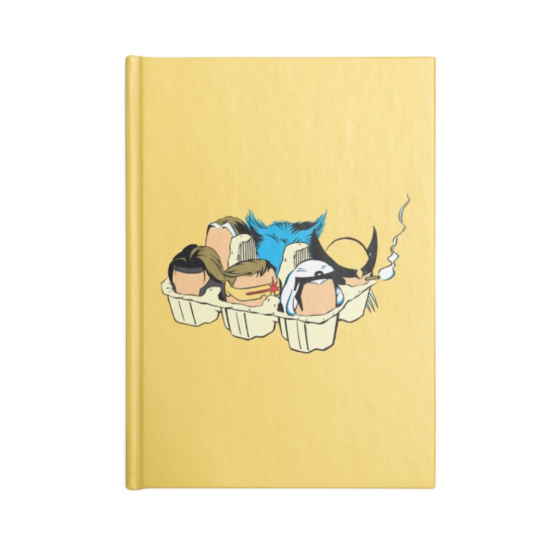 Eggs-Men Accessories Lined Journal Notebook by Murphed