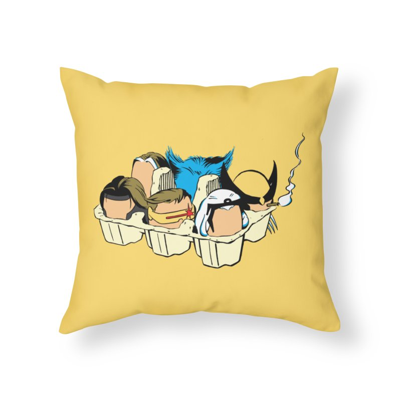 Eggs-Men Home Throw Pillow by Murphed