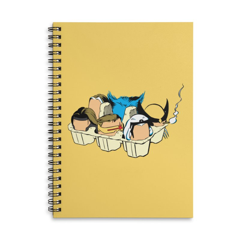 Eggs-Men Accessories Lined Spiral Notebook by Murphed
