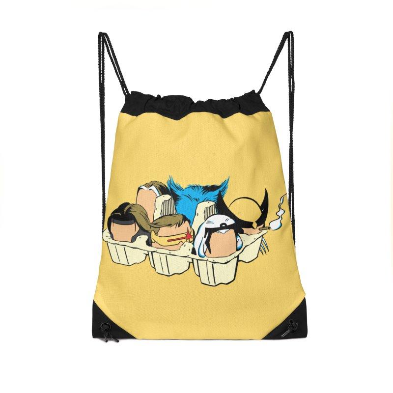 Eggs-Men Accessories Drawstring Bag Bag by Murphed