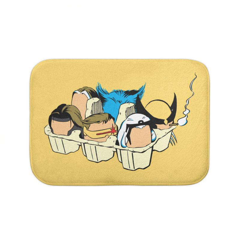 Eggs-Men Home Bath Mat by Murphed