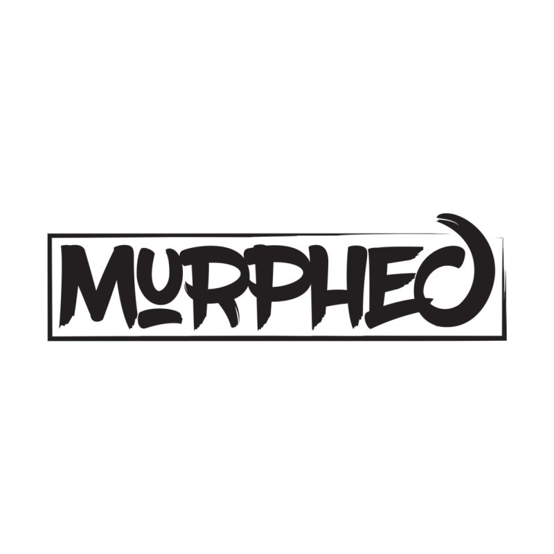 Murphed Logo (Black on White) Home Throw Pillow by Murphed