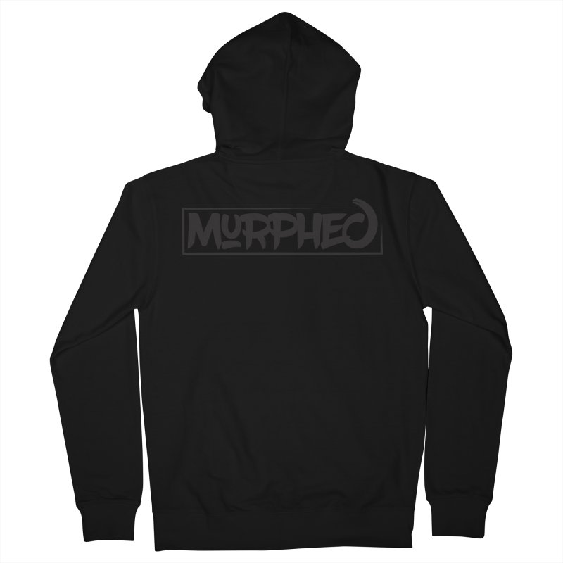 Murphed Logo (Black on White) Men's French Terry Zip-Up Hoody by Murphed