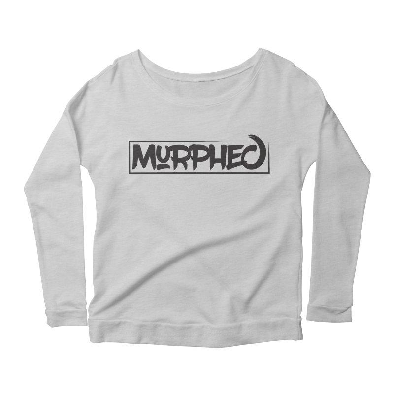 Murphed Logo (Black on White) Women's Longsleeve Scoopneck  by Murphed