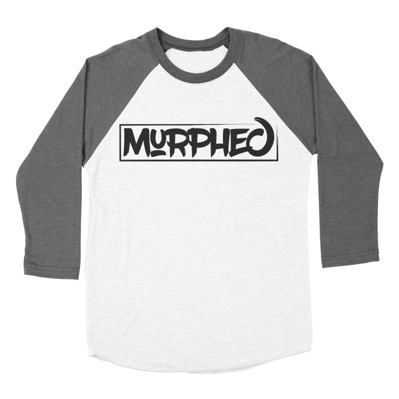 Murphed Logo (Black on White) Men's Baseball Triblend Longsleeve T-Shirt by Murphed
