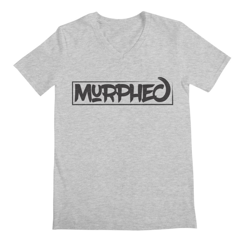 Murphed Logo (Black on White) Men's Regular V-Neck by Murphed