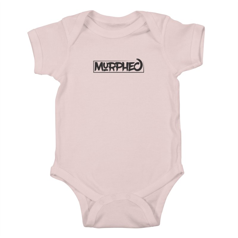 Murphed Logo (Black on White) Kids Baby Bodysuit by Murphed