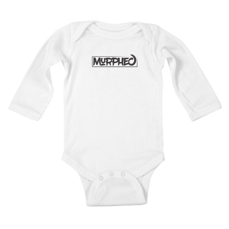 Murphed Logo (Black on White) Kids Baby Longsleeve Bodysuit by Murphed