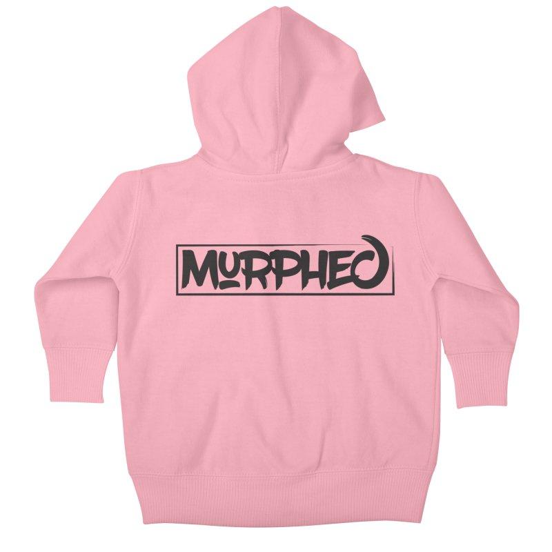Murphed Logo (Black on White) Kids Baby Zip-Up Hoody by Murphed