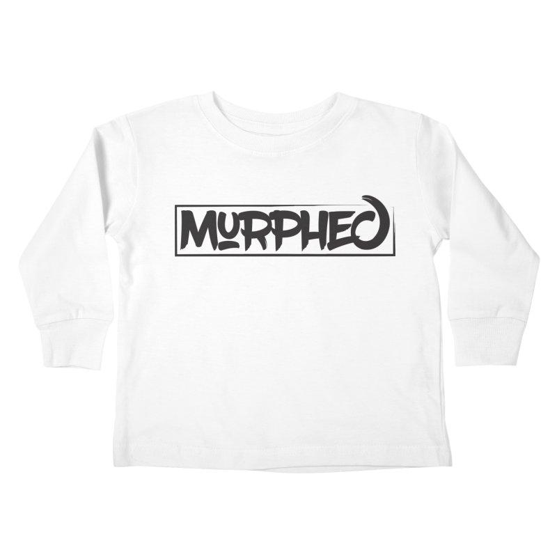 Murphed Logo (Black on White) Kids Toddler Longsleeve T-Shirt by Murphed