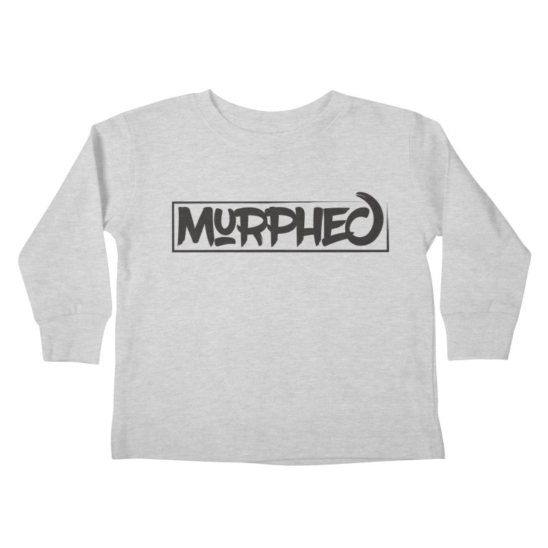 Murphed Logo (Black on White) Kids Toddler Longsleeve T-Shirt by Murphed