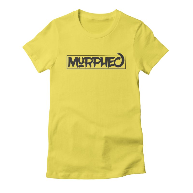 Murphed Logo (Black on White) Women's Fitted T-Shirt by Murphed