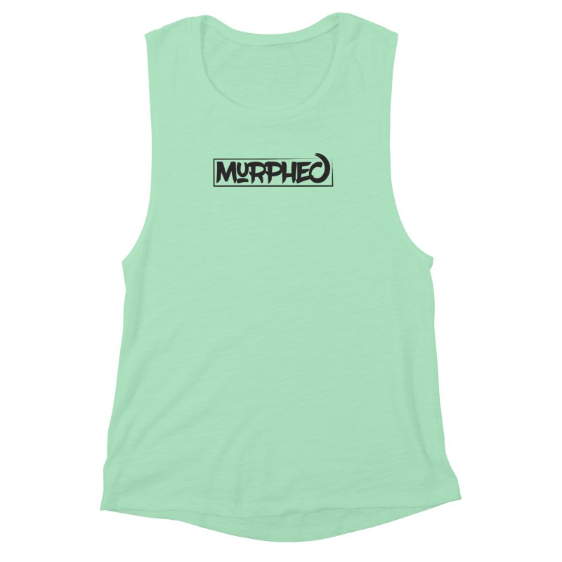 Murphed Logo (Black on White) Women's Muscle Tank by Murphed