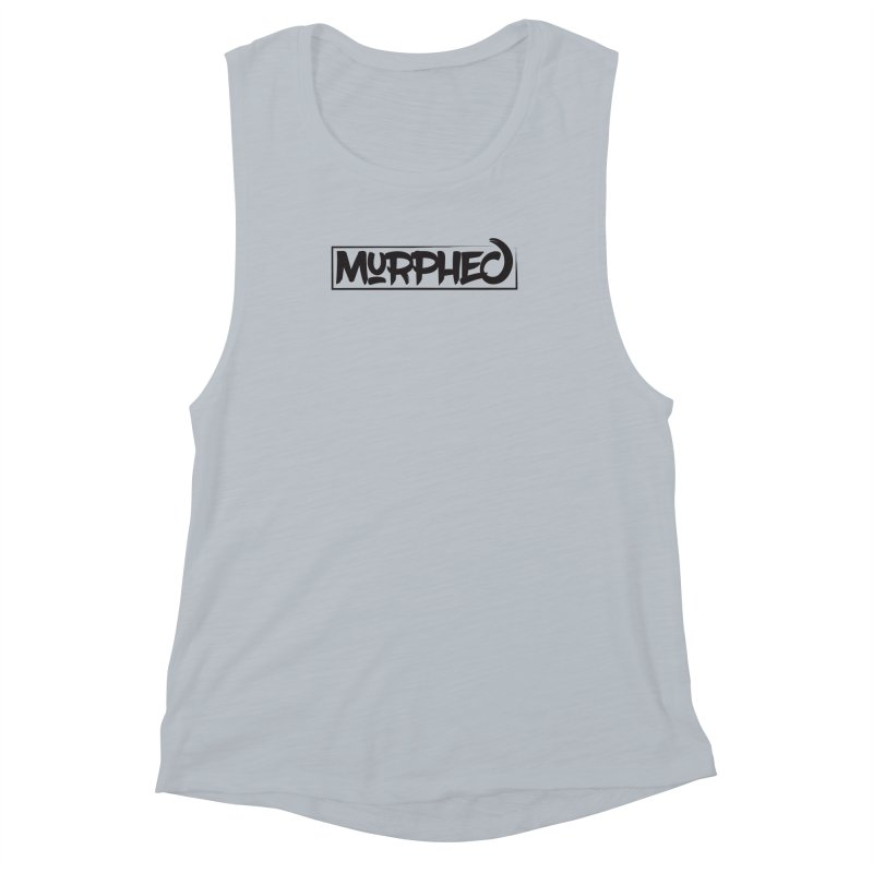 Murphed Logo (Black on White) Women's Muscle Tank by Murphed