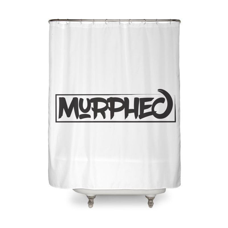 Murphed Logo (Black on White) Home Shower Curtain by Murphed