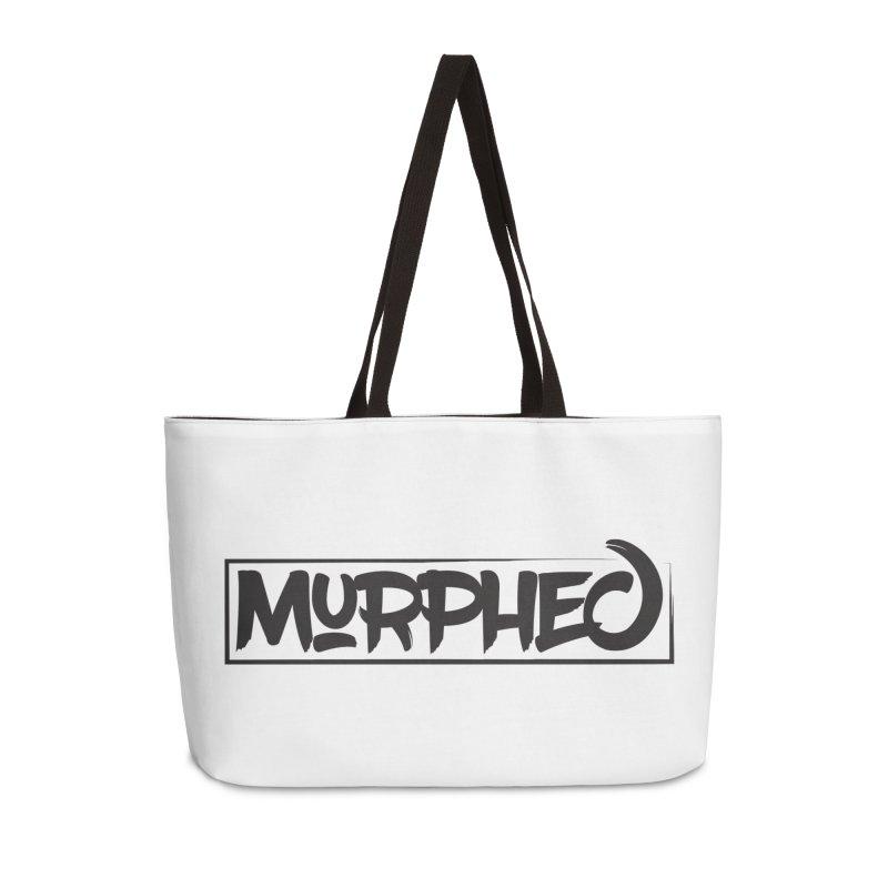 Murphed Logo (Black on White) Accessories Weekender Bag Bag by Murphed