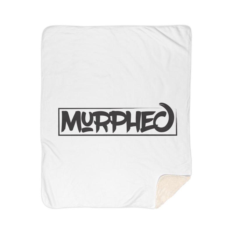 Murphed Logo (Black on White) Home Sherpa Blanket Blanket by Murphed