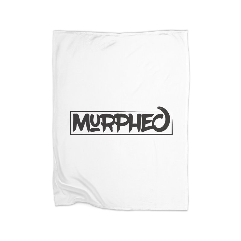 Murphed Logo (Black on White) Home Blanket by Murphed