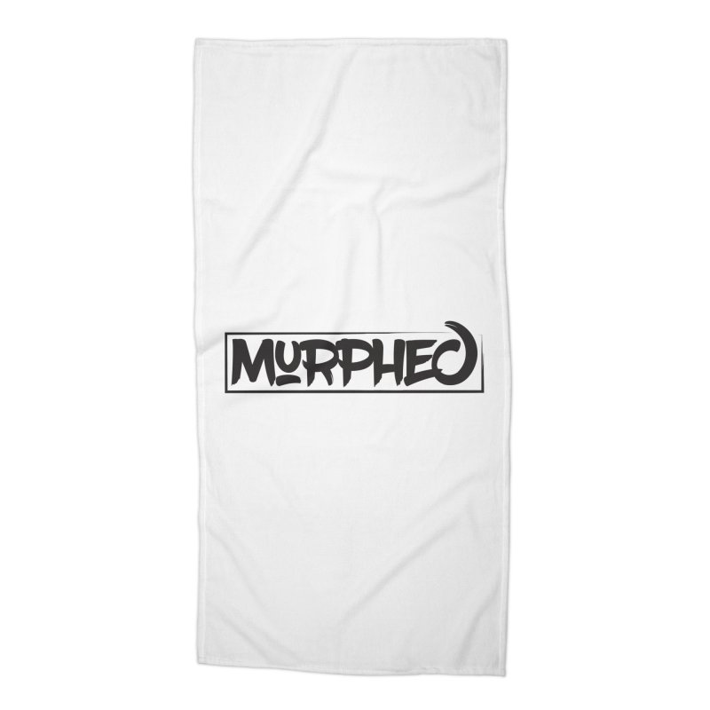 Murphed Logo (Black on White) Accessories Beach Towel by Murphed