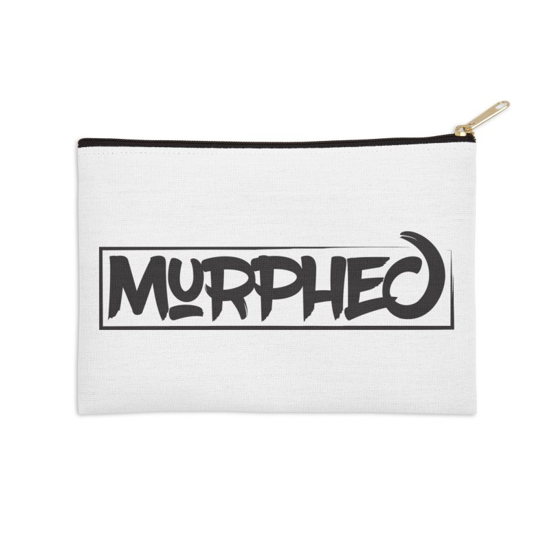 Murphed Logo (Black on White) Accessories Zip Pouch by Murphed