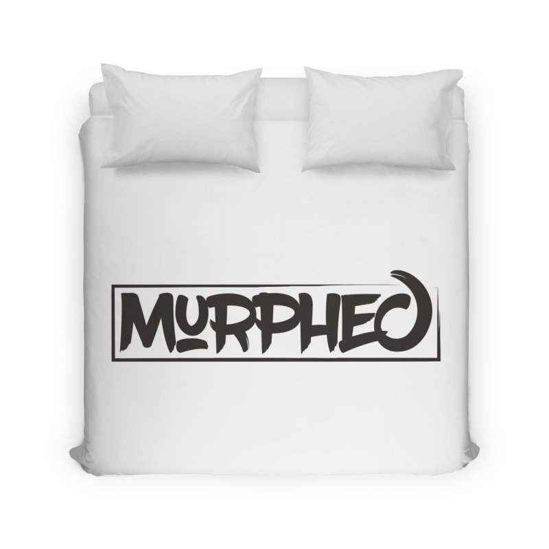 Murphed Logo (Black on White) Home Duvet by Murphed