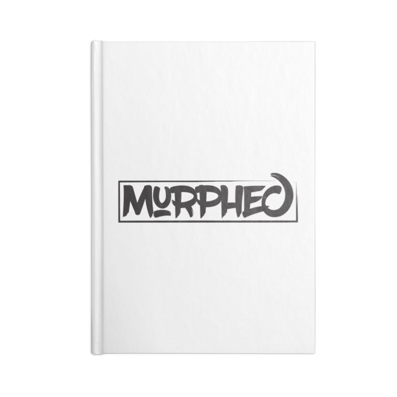 Murphed Logo (Black on White) Accessories Lined Journal Notebook by Murphed