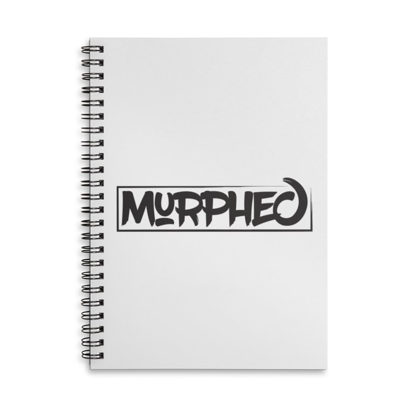 Murphed Logo (Black on White) Accessories Lined Spiral Notebook by Murphed