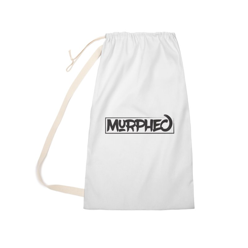 Murphed Logo (Black on White) Accessories Laundry Bag Bag by Murphed